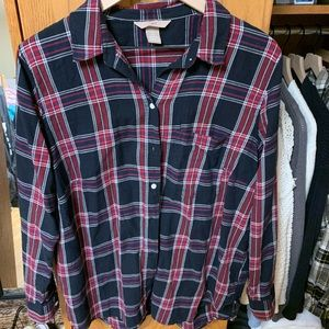 H&M blue and red striped flannel!